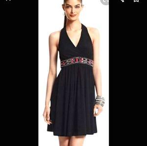 White House black market black halter dress